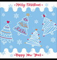happy new year and merry christmas 2018 6 vector image
