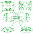Leaves frames - set design elements vector image