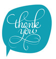 thank you text on green background vector image
