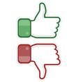 Thumb up and down vector image