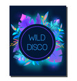tropic disco party flyer design template vector image