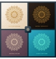 Ethnic invitation set with mandala design vector image