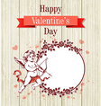 Vintage hand drawn Valentine card vector image vector image