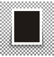 isolated realistic empty photo frame with vector image