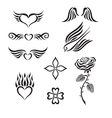 Set of tribal tattoo vector image