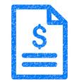 price list grunge icon vector image