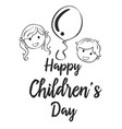 happy childrens day collection style vector image