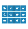 Crown icons on blue background vector image