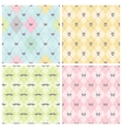 Seamless baby background collection vector image vector image