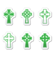Irish Scottish celtic cross sign vector image vector image