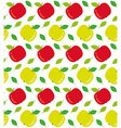 Apples seamless texture vector image