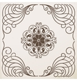 border vintage frame with ornament vector image