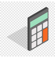 calculator isometric icon vector image