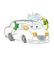 car washing itself vector image