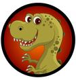 funny dinosaur head cartoon vector image