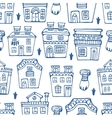 Seamless pattern wit traditional portuguese houses vector image