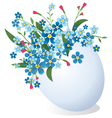 Easter egg with flowers vector image