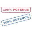 100 percent potence textile stamps vector image