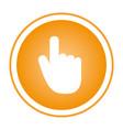 color circular emblem with hand cursor vector image
