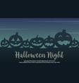 Halloween with pumpkin silhouette design vector image