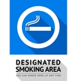 Label smoking area sticker vector image vector image