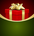 christmas gift box background vector image