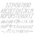 high and thin italics vector image