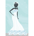 Abstract Beautiful bride vector image