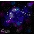 aquarius constellation with triangular background vector image