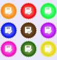 Bathroom scales icon sign Big set of colorful vector image