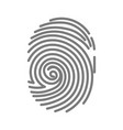 gray colored fingerprint vector image