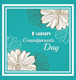 greeting card for grandparents day vector image