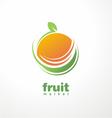 Healthy food logo design concept vector image