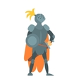 Knight Fairy With Orange Cape And Shield Tale vector image