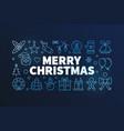 merry christmas on dark vector image