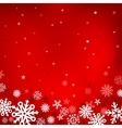 red snow mesh background vector image