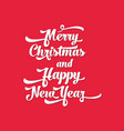 white text on a red background merry christmas vector image