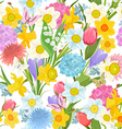 spring floral design on the white background vector image vector image