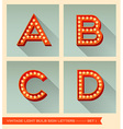 Vintage light bulb sign letters a b c d vector image vector image