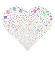 test tubes fireworks heart vector image