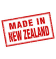 new zealand red square grunge made in stamp vector image