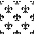 Stylized French fleur de lys seamless pattern vector image