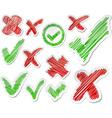 Hand drawn validation set vector image