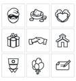 Charity Help the homeless and poor people icons vector image