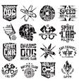 Car and biker culture badges vector image
