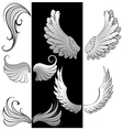 Artistically contoured wings vector image
