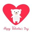 Arctic polar bear cub Cute cartoon character vector image