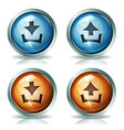 download and upload web icons vector image