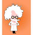 Evil genius Nutty Professor in pop art style Mad vector image