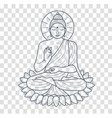 icon buddha silhouette vector image